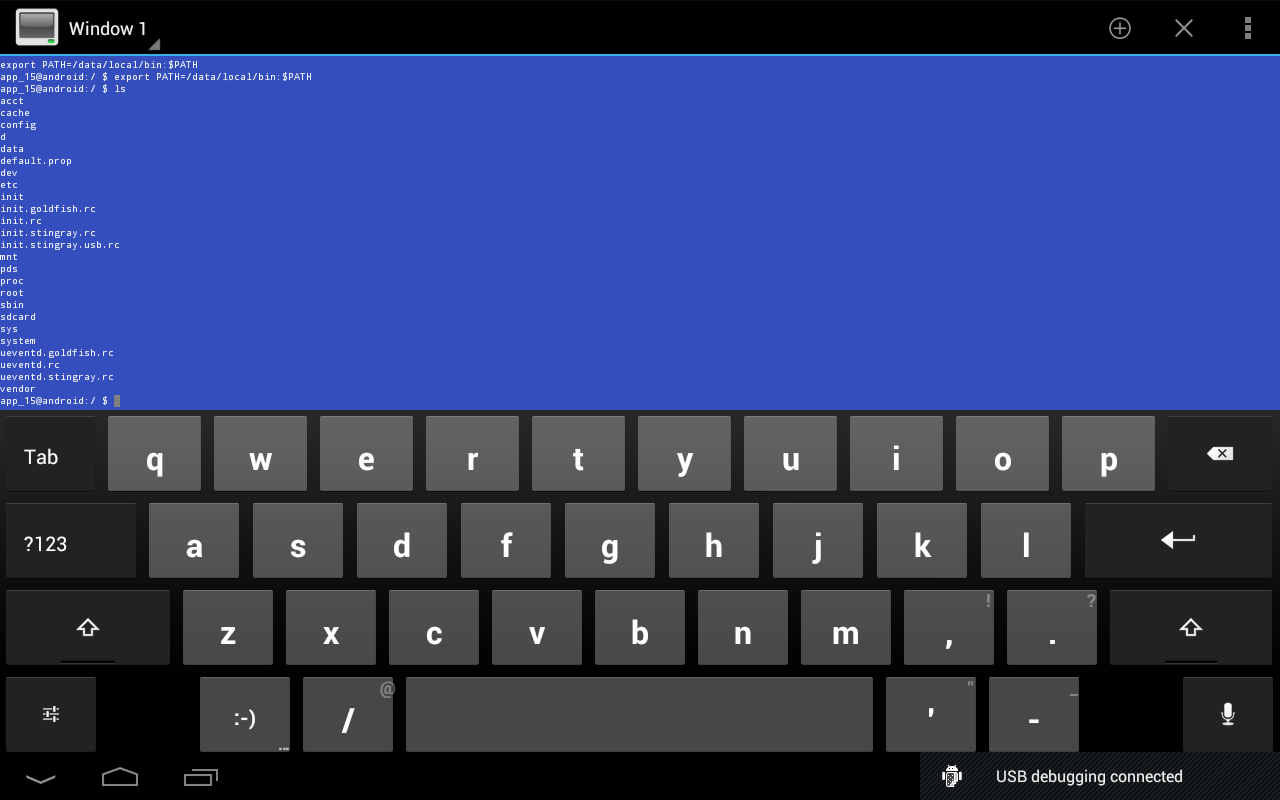 Terminal Emulator for Android – скриншот