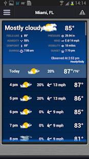 WSVN • South Florida's Weather - screenshot thumbnail