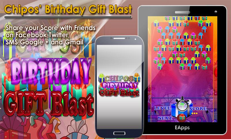 Chipos Birthday Gift Blast - screenshot