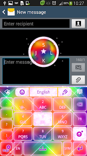 Keyboard Color Glitter Theme - screenshot thumbnail