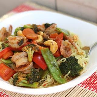 Spicy Shrimp & Vegetable Stir Fry.
