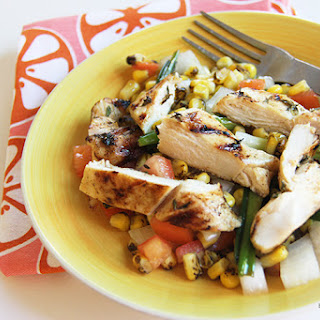 Grilled Chicken with Corn Salad for #SundaySupper