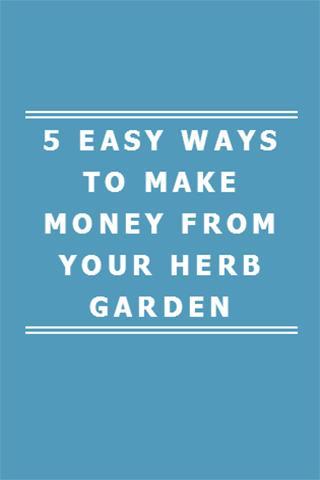 MAKE MONEY FROM HERB GARDEN