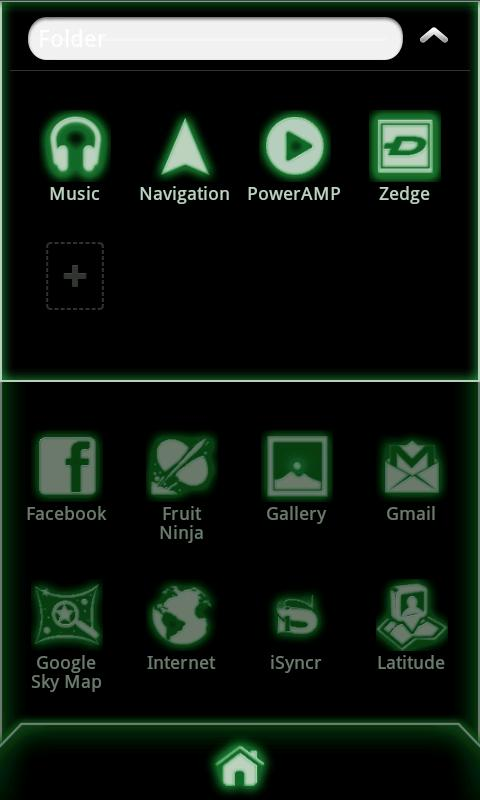 Glow Go Launcher Ex Theme Code - screenshot