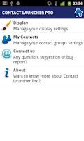 Screenshot of Contact Launcher Pro