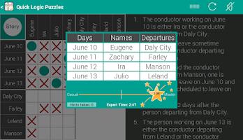 Screenshot of Quick Logic Puzzles