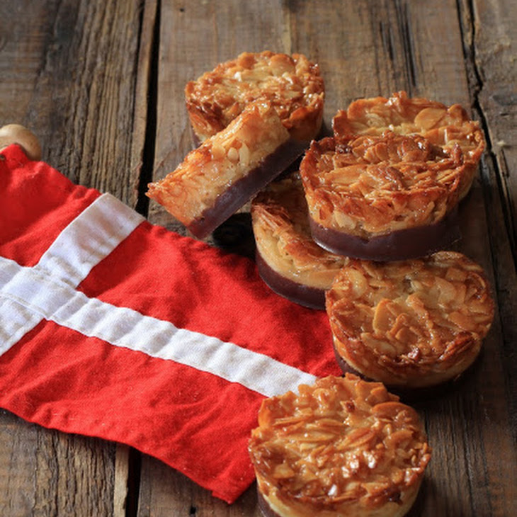 Danish Tarts with Sliced Almonds and Chocolate in Honor of Danish National Day Recipe