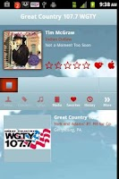 Screenshot of Great Country 107.7 WGTY