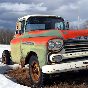 1958 Apache by Joerg Schlagheck - Transportation Automobiles ( field, old, pickup, classic., apache, rusty, , color, colors, landscape, portrait, object, filter forge )
