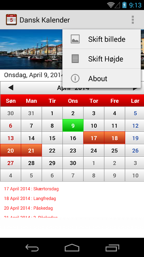 dansk kalender android apps on google play. Black Bedroom Furniture Sets. Home Design Ideas