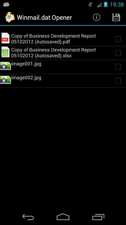 Winmail.dat Opener- screenshot