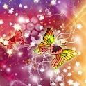Butterfly fantasy theme logo