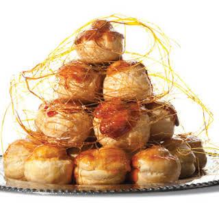 Croquembouche (Caramel-Glazed Cream Puffs).