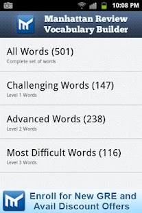 Vocabulary Builder for GRE SAT - screenshot thumbnail