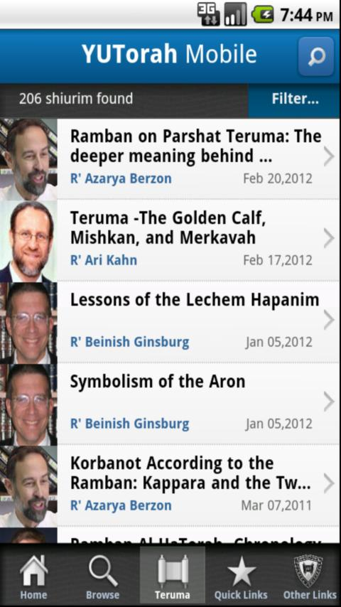 YU Torah- screenshot