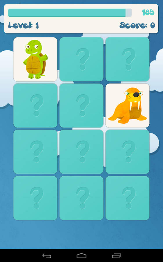 Kids memory game: animals - screenshot