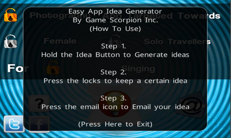 Easy App Idea Generator - screenshot