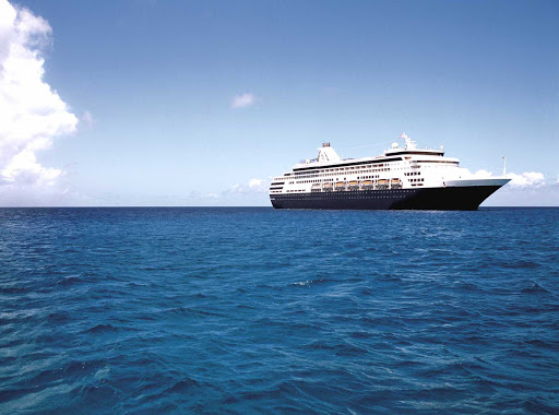 Holland-America-Maasdam-at-sea - At 720 feet in length, the Maasdam, named for the Maas River in the Netherlands, is designed to carry fewer guests while providing more space for passengers to spread out.