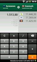 Screenshot of Valutaregner
