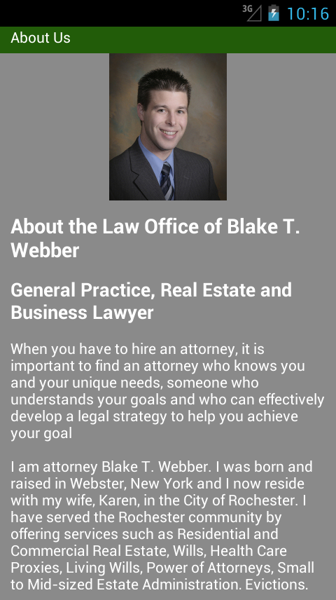 Law Office of Blake T. Webber- screenshot
