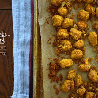 Quick & Easy Cornflake Crusted Chicken Nuggets.