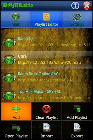 BGMRadio- screenshot