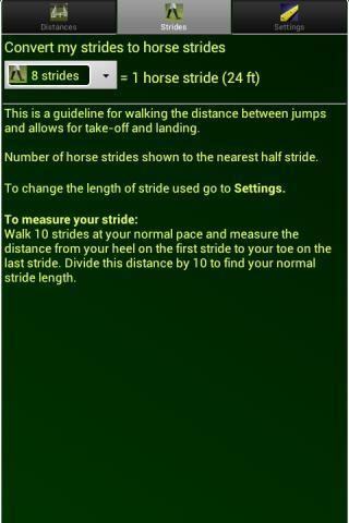 Show Jump Distances for Horses- screenshot