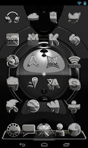 Next Launcher Theme Mega Metal v2.35