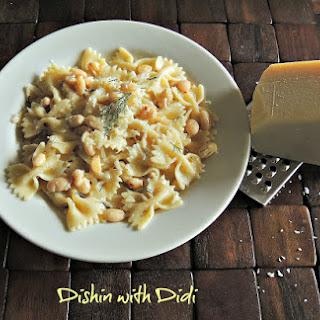 Lemony Dill Chickpeas/Beans with Pasta - Vegetarian