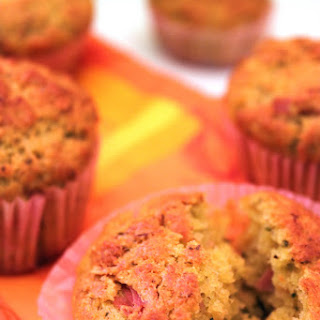 Savory Muffins with Pesto and Almonds.
