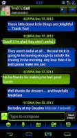 Screenshot of GO SMS Royal Kiwi Cobalt Theme