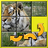 Game Kids Animal Slide Puzzle 15 apk for kindle fire