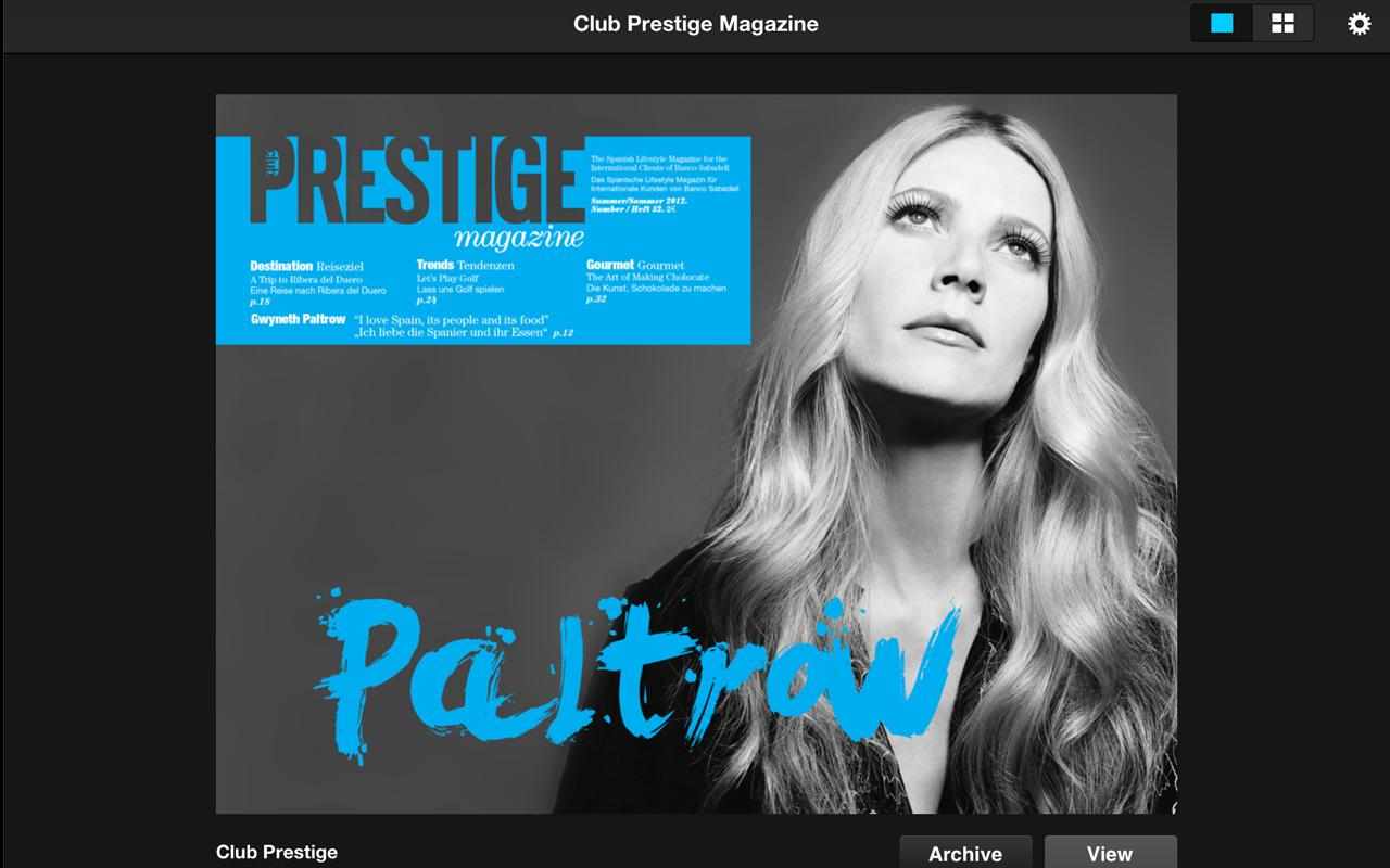 Club Prestige Magazine - screenshot