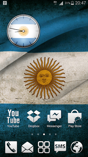 Argentina Analog Clock Widget