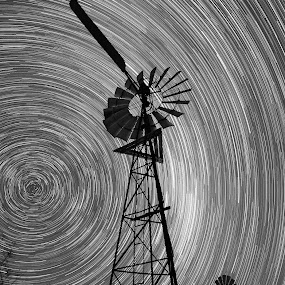 Country Sky by Callum Harris - Landscapes Starscapes ( canon, b&w, black and white, silhouette, star, bw, nice, wide, landscape, photo, portrait, nightscape, country, night photography, nature, wide angle, australia, night, aussie )