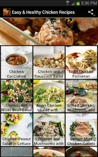 Easy & Healthy Chicken Recipes- screenshot thumbnail