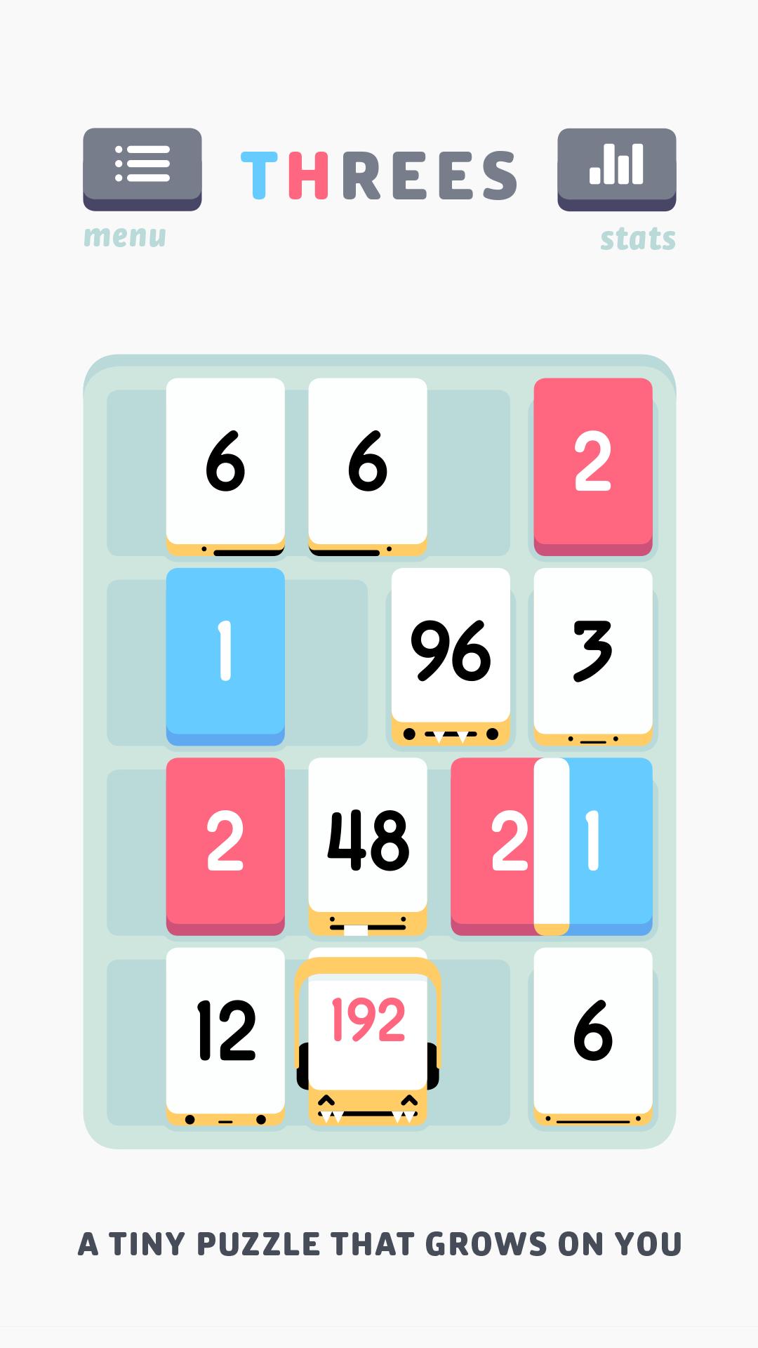 Threes! screenshot #1