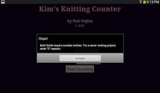 Kim's Knitting Counter- screenshot thumbnail