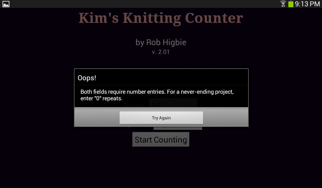 Kim's Knitting Counter - screenshot
