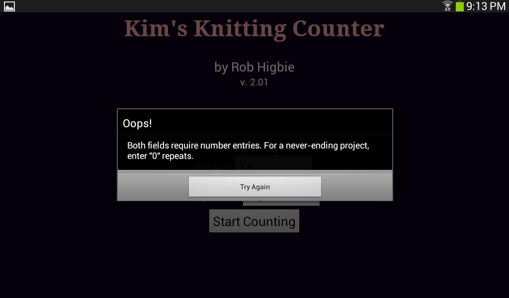 Kim's Knitting Counter- screenshot