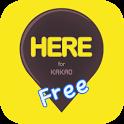 여기야톡 free - 위치, 약속장소 for 카카오톡 icon