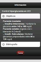 Screenshot of Terapias de Insulina en UCI