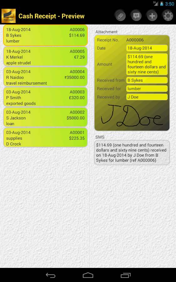 Cash Receipt Android Apps on Google Play – How to Write a Cash Receipt