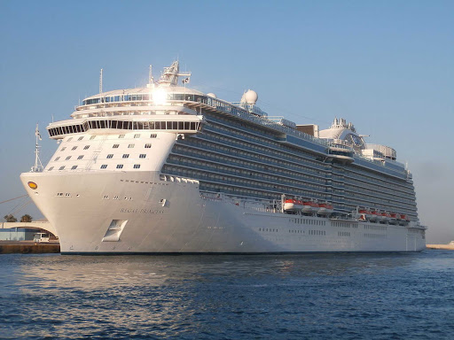 Regal-Princess-Piraeus-Greece - Regal Princess in the port of Piraeus, Greece.