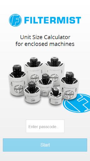 Filtermist Calculator