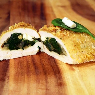 Feta, Pine Nut and Spinach Stuffed Chicken