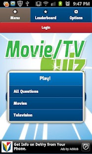 Movie & TV Quiz Trivia Toy - screenshot thumbnail