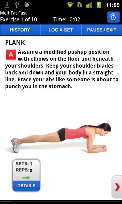 Women's Health Workouts Lite - screenshot