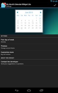 玩個人化App|My Month Calendar Widget Lite免費|APP試玩