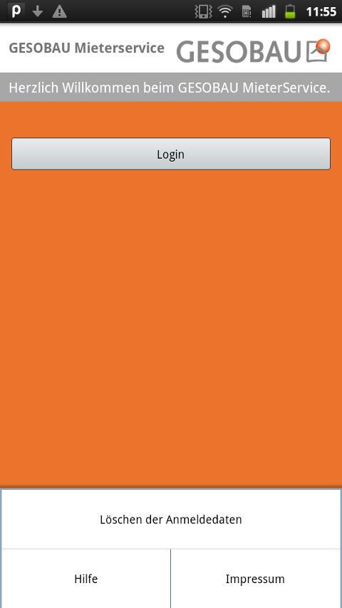 Online-Mieterservice – Screenshot